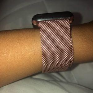 """""""Blush"""" Apple Watch Milanese Loop Band"""